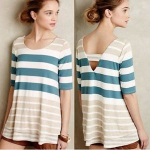 Anthropologie Puella Striped Layered Tunic Size L
